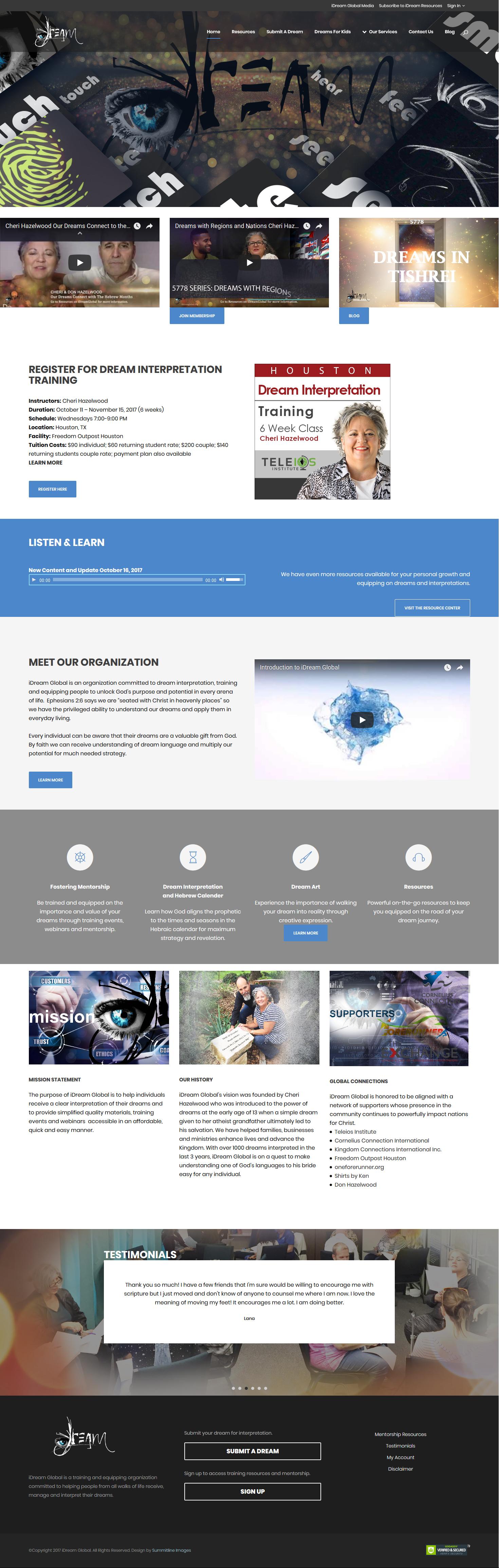 iDream Global Website